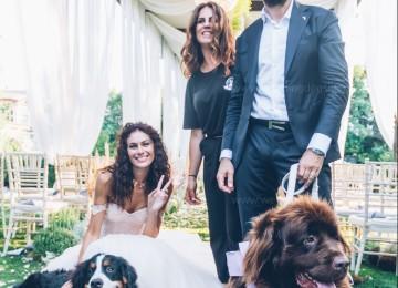 Matrimonio VIP: Paola Turani & Ricky con Nadine e Gnomo