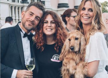 Matrimonio Vip: Filippa Lagerback e Daniele Bossari con Whisky, il cocker