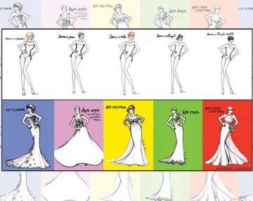 abiti da sposa x vari fisici