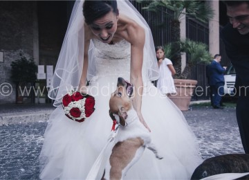 SPOSI CON IL CANE A ROMA FOTO WEDDING DOG