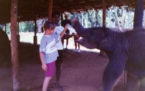 Ely con l'elefantino Shrilanka