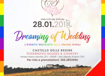 """DREAMING OF WEDDING"": le unione civile dalla A alla Z"