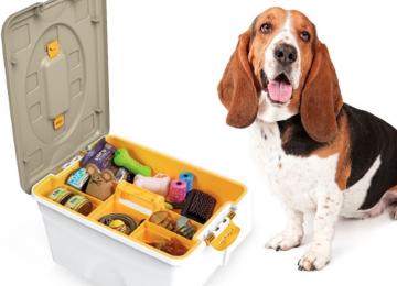 Contenitore per giochi cane